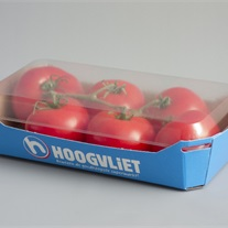 tomatoes - cardboard tray with lid